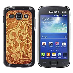 TECHCASE**Cubierta de la caja de protección la piel dura para el ** Samsung Galaxy Ace 3 GT-S7270 GT-S7275 GT-S7272 ** Wallpaper Pattern Textile Fabric Design Brown