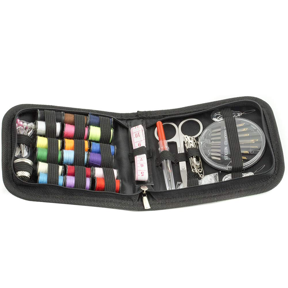 Sewing Kit Sewing Accessories 75 PCS Mini Travel Sewing kit for Beginners & Emergency ADMOZ