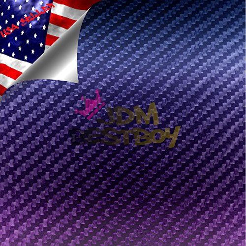 JDMBESTBOY Purple Blue Chameleon Carbon Fiber Car Vinyl Wrap Sticker Decal Sheet with Bubble Free - 5