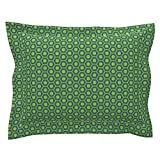 Roostery Nut Euro Flanged Pillow Sham Cuteness Hardware Blue by Jenimp Natural Cotton Sateen Made