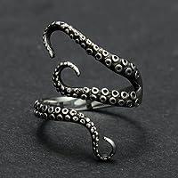 Vintage Titanium Steel Octopus Sea Monster Squid Kraken Punk Antique Ring Retro By PaPa's Bubble