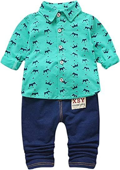 TIFENNY Baby Boy Beard T-Shirt Tops+Short Pants Outfit Clothes Set