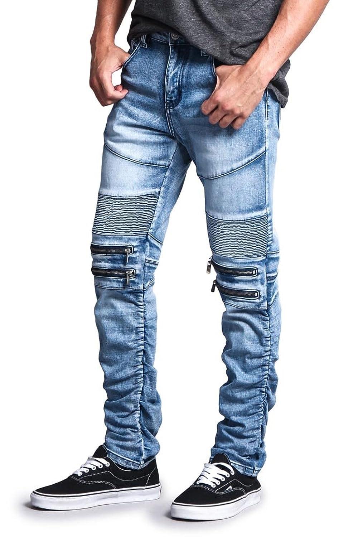 Victorious Mens Biker Twill Skinny Pants DL191 - E10D