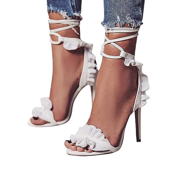 e7e510c2 Rcool Zapatos de tacón zapatos de tacón alto mujer zapatos de tacón  transparentes,Sexy correa