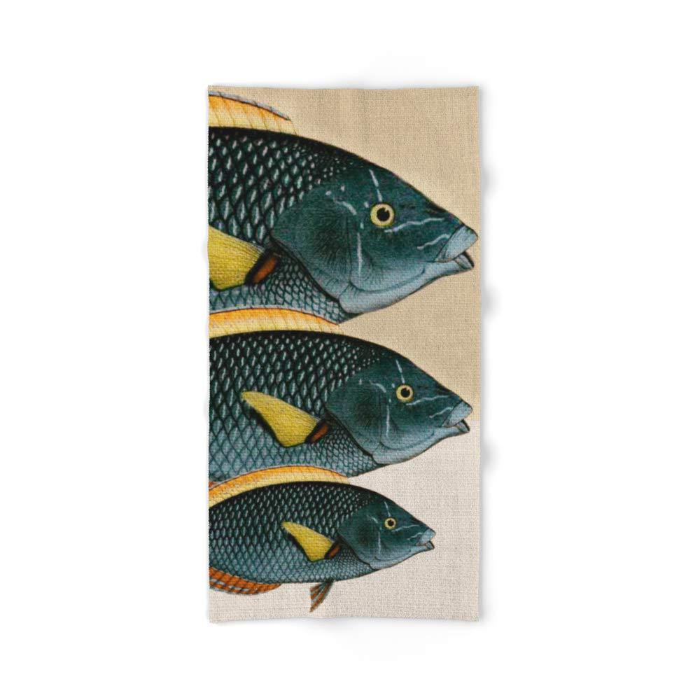 Society6 Bath Towel, 64'' x 32'', Fish Classic Designs 10 by fernandovieira