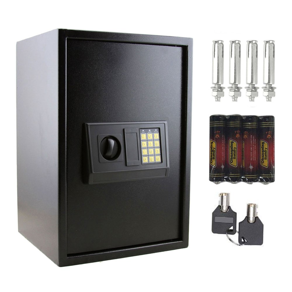 FCH Electronic Safe Box Safe Cabinet Digital Security Lock and Safe with Keypad&Lock Cash Jewelry Safe for Home Office Hotel