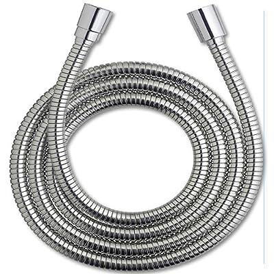 Zen Bidet 5 foot Long Stainless Steel Nickel Replacement Hose for Handheld Shower Hand Held Bidet | Reinforced for High Pressure