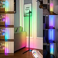 Smart RGB Floor Lamp, LED Floor Lamp Ambient Background Light, Modern Minimalism Color Changing LED Dimmable Torchiere…