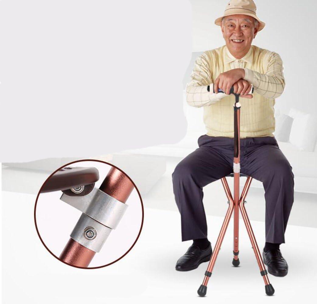 XFF Taburete de Silla de caña de Cuatro pies con Taburete de bastón Viejo bastón de Terapia magnética de Altura Ajustable Precio Antideslizante del Abdomen Mejor Precio