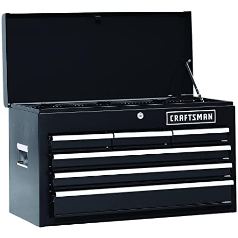 Craftsman 6 Drawer Heavy Duty Tool Chest, All Steel Construction U0026 Smooth  Glide Drawers