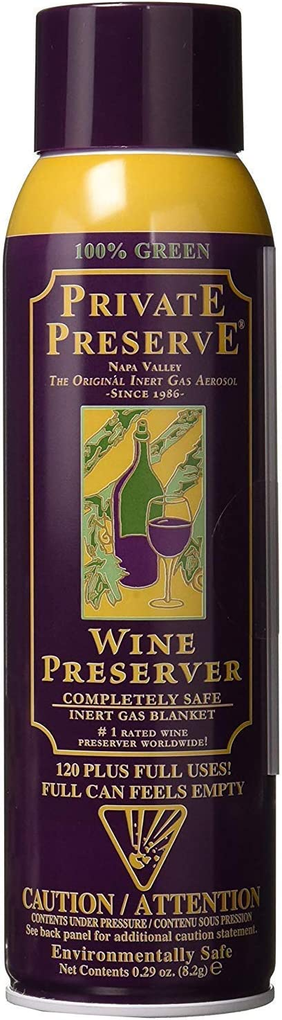 Private Preserve Preserver Bundled 100% Green Gas Based | Suitable for all Wine, Port, Sake, Cognac, Whiskey, Fine Oil and Vinegar, 4 Count, Black/Gold