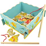 Bigjigs Toys Wooden Magnetic Fishing Game Without Base - Suitable 3+ Years