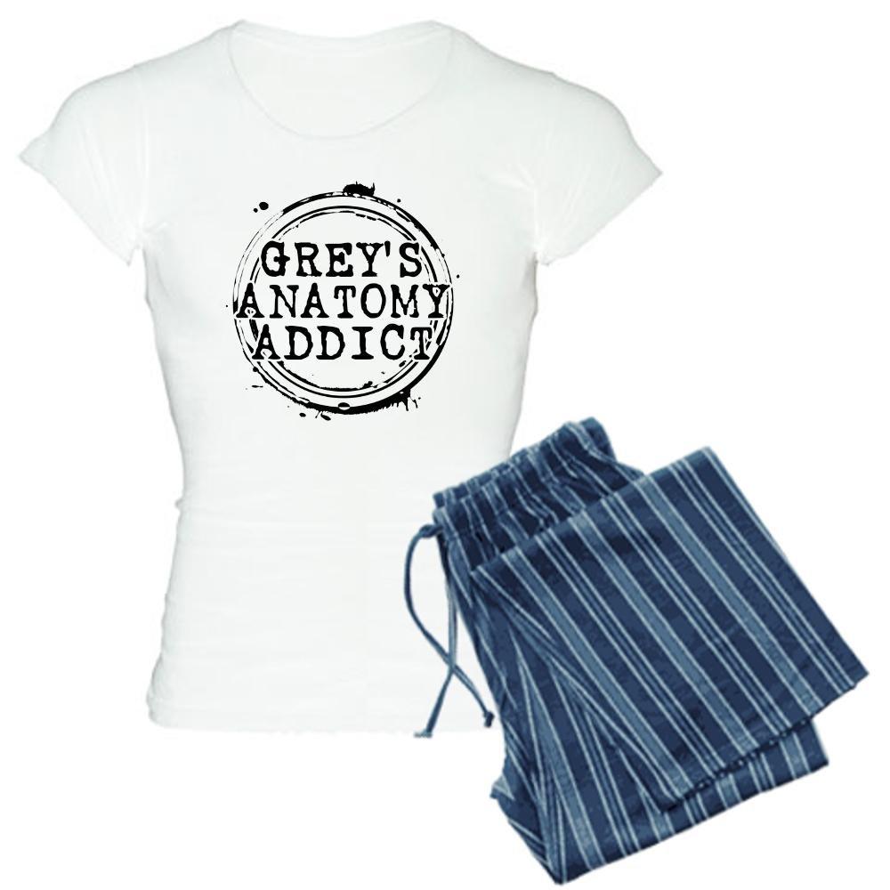 CafePress Grey 's Anatomy Addict Damen leichte Schlafanzü ge –  Damen Neuheit Baumwolle Pyjama Set, bequemen PJ Nachtwä sche