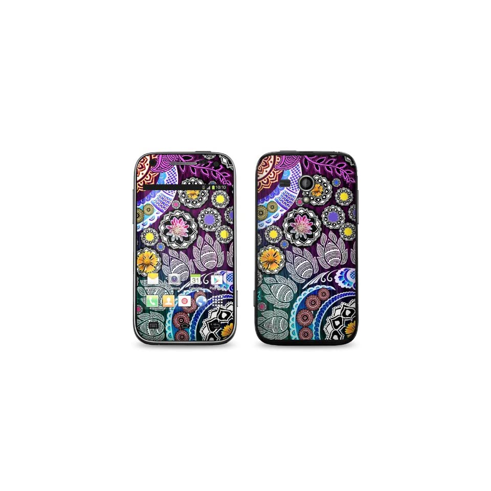 Mehndi Garden Design Protective Decal Skin Sticker (Matte Satin Coating) for Samsung Galaxy Rush SPH M830 Cell Phone Cell Phones & Accessories