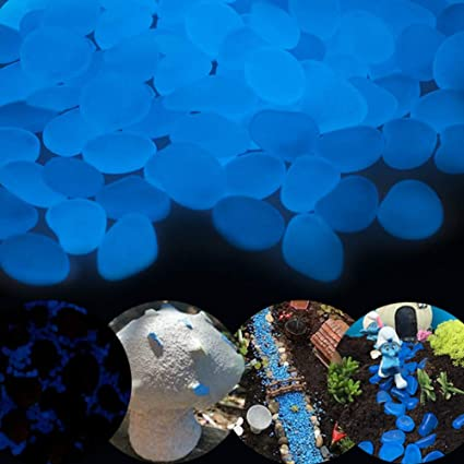 Glow in the Dark Pebbles Resin Stones for Aquarium Fish Tank Garden Walkway