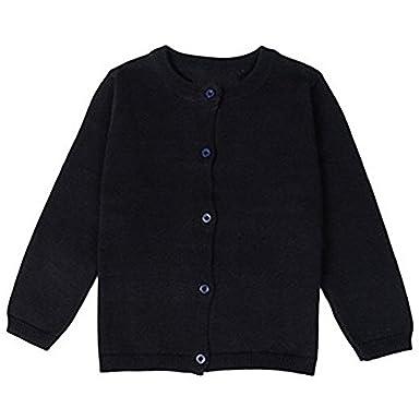 65e4e571b351 Amazon.com  JELEUON Little Girls Cute Crew Neck Button-Down Solid ...