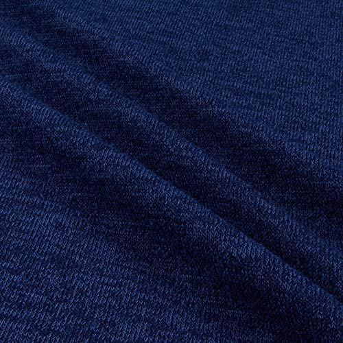 Telio Cara Polyester Spandex Sweater Jersey Knit Blue Fabric
