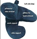 Travel Pillow Neck Flight J Shape Head Chin Support