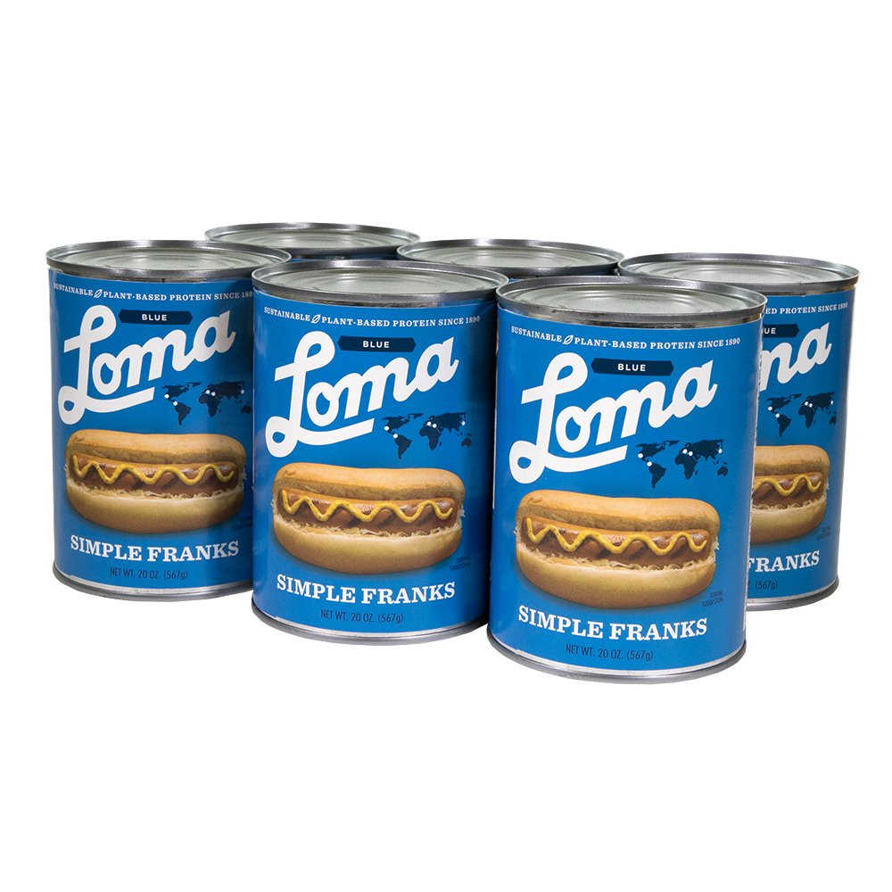 Loma  Linda Blue - Plant-Based - Simple Franks (20 oz.) (Pack of 6) - Kosher by  (Image #2)