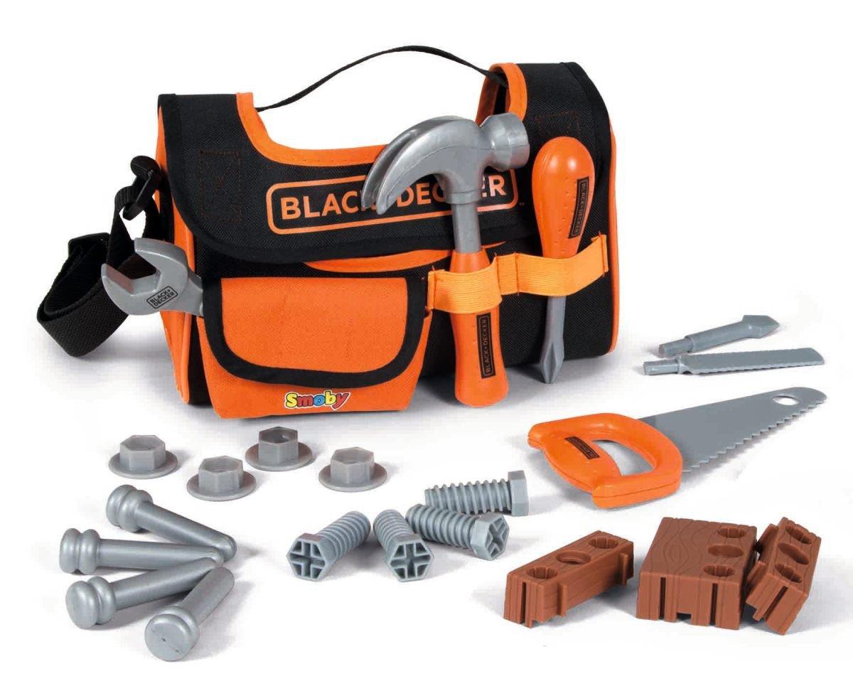 Smoby - 360142 - Black & Decker - Caisse à Outils en Tissu - 4 Outils 7600360142