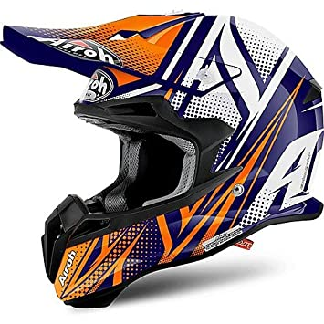Casco Moto Cross Enduro Airoh Terminator 2.1 S Cleft Naranja Brillante Extra Large