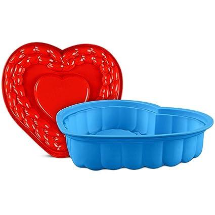 JasCherry Forma de Corazón Moldes de Silicona para Tartas, Bizcocho y Paste #2