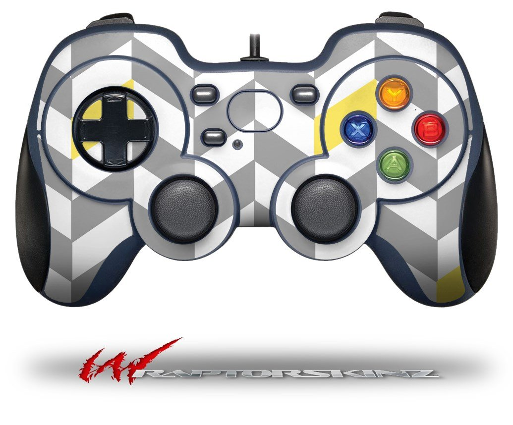 Chevrons Gray And Yellow - Decal Style Skin fits Logitech