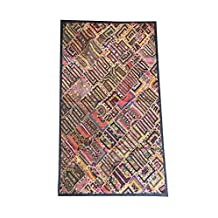 Mogul Ethnic Tapestry Embroidered Handmade Patchwork Multi Wall Hanging Throw