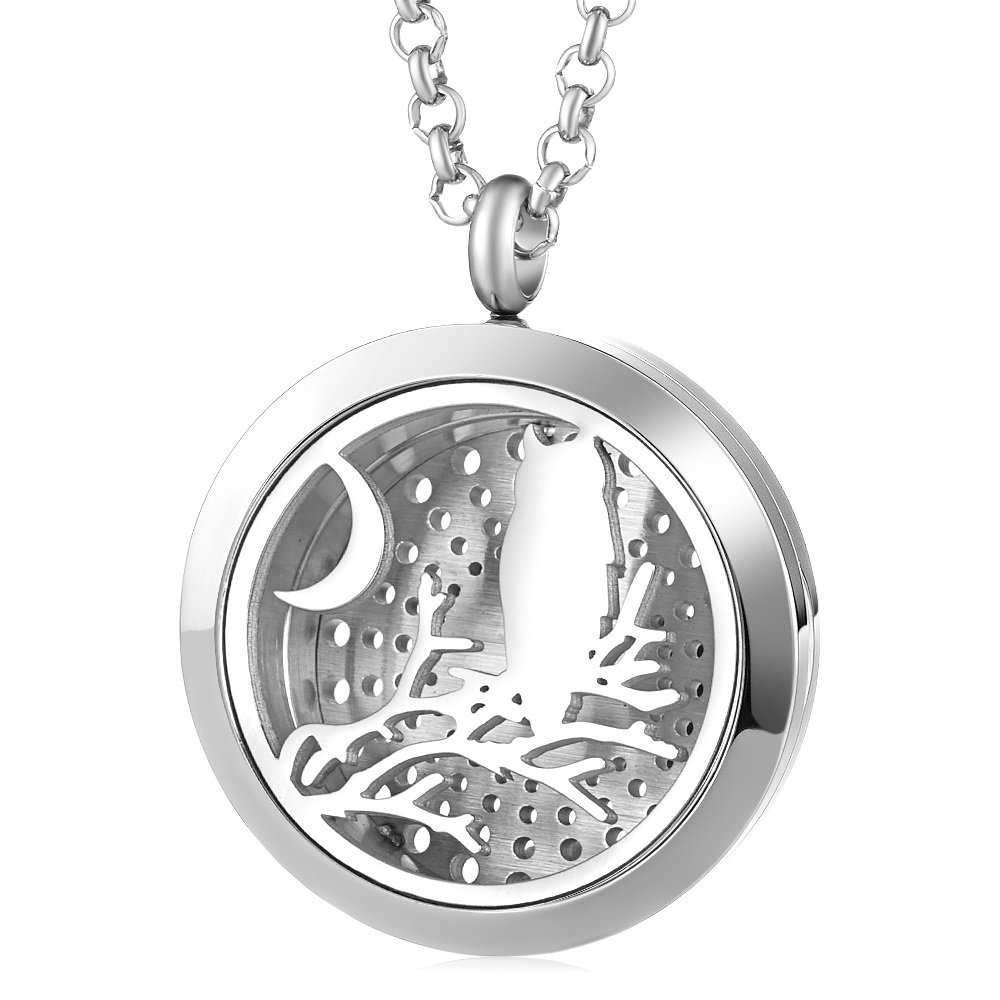 Halloween Diffuser Necklace 30mm Aromatherpay Locket Pendant with 5pcs Pads