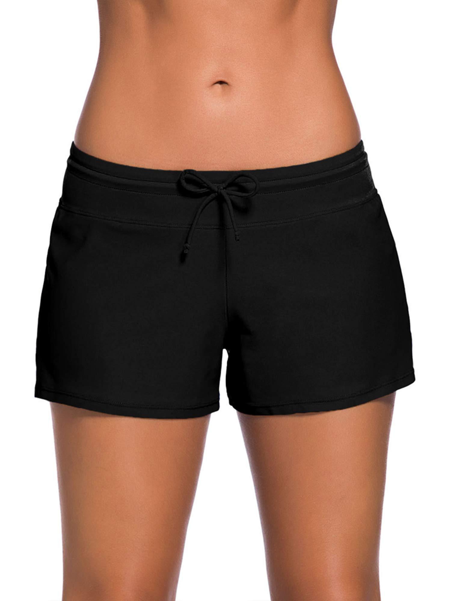 WILLBOND Women Swimsuit Shorts Tankini Swim Briefs Side Split Plus Size  Bottom Boardshort Summer Beach Swimwear bc3091393