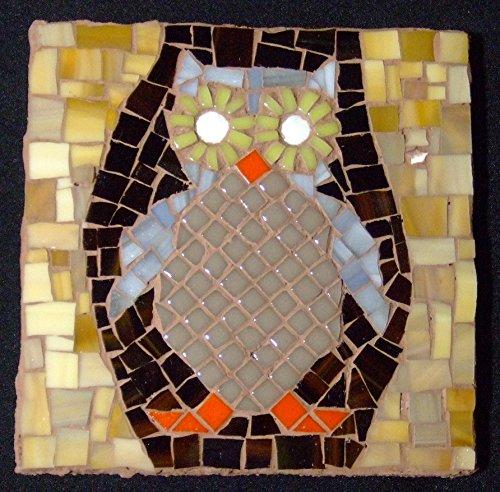 Owl Tile (Mosaic Owl Tile)