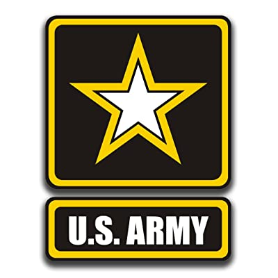 CMI NI881 US Army Logo Decal Sticker   5.5-Inches by 4-Inches   Premium Quality Vinyl Decal: Automotive