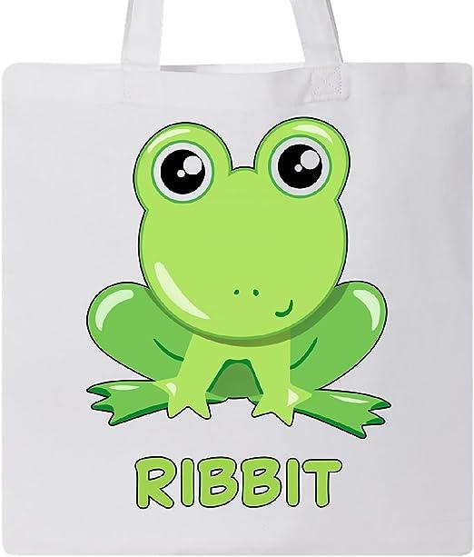 inktastic Ribbit bolsa de tela, diseño de rana, color verde ...