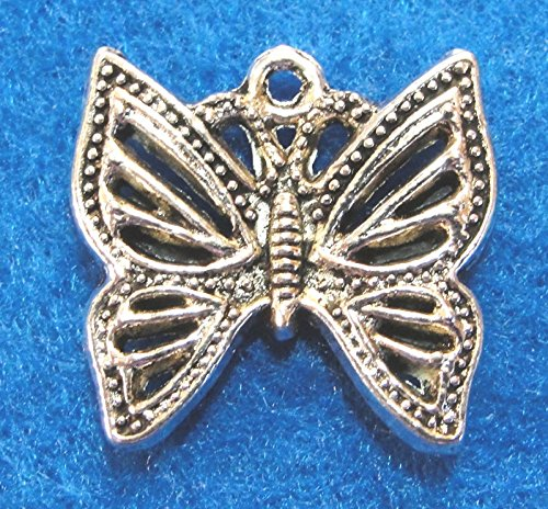 - 10Pcs. Tibetan Silver Butterfly Nice Charms Pendants Earring Drops BF04A Crafting Key Chain Bracelet Necklace Jewelry Accessories Pendants