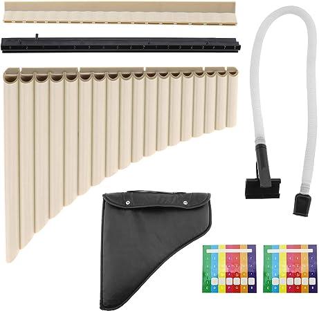 18 tubos profesional Pan Flauta Instrumento Musical Panpipe Música Instrumentos musicales con bolsa de almacenamiento de dos vías de reproducción