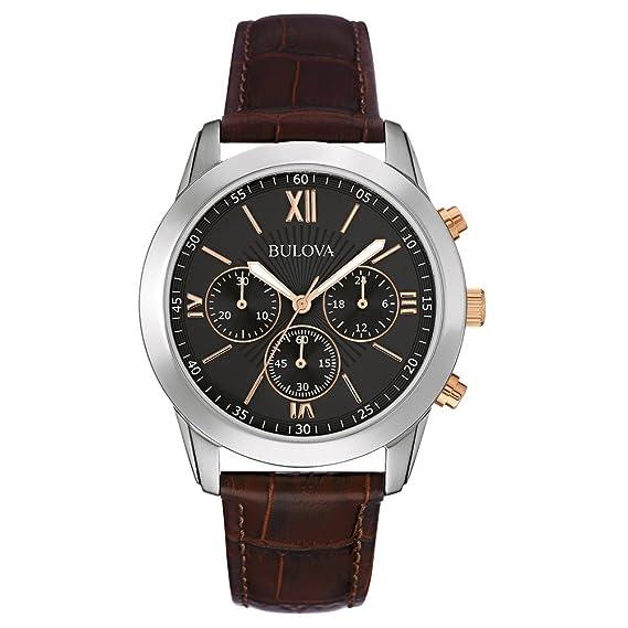 Reloj de Hombre clásico de Vestir, Engranajes de Quartz con Esfera analógica Negra y Acero