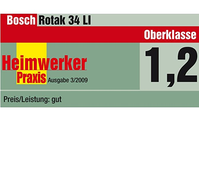 Bosch Rotak 34 LI - Cortacésped rotativo a batería de litio