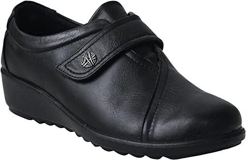 Cushion Walk Ladies Black Loafer Flats