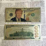 us 1000 bill - 1 pcs New Arrival US 1000 Dollars Trump Gold Foil Banknote Paper Gold Commemorative Banknote