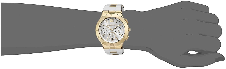Amazon.com: Michael Kors Watches Wyatt Chronograph Stainless Steel Watch (White): Watches