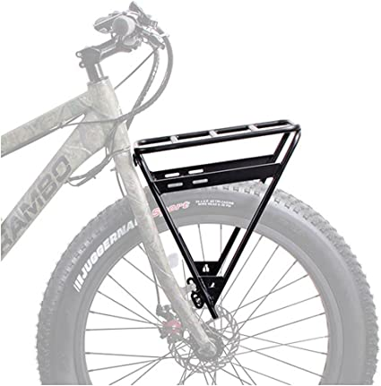 Amazon Com Rambo Bikes Racks Bags R151 Front Luggage Rack Black One Size Sports Outdoors