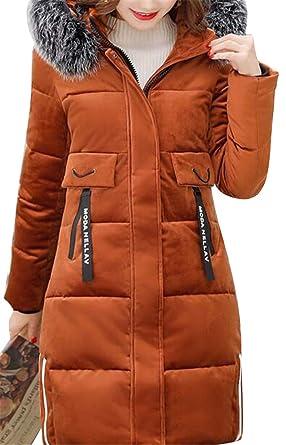b47f73e75 Amazon.com: YYG Womens Thicken Velvet Warm Winter Faux Fur Hooded ...