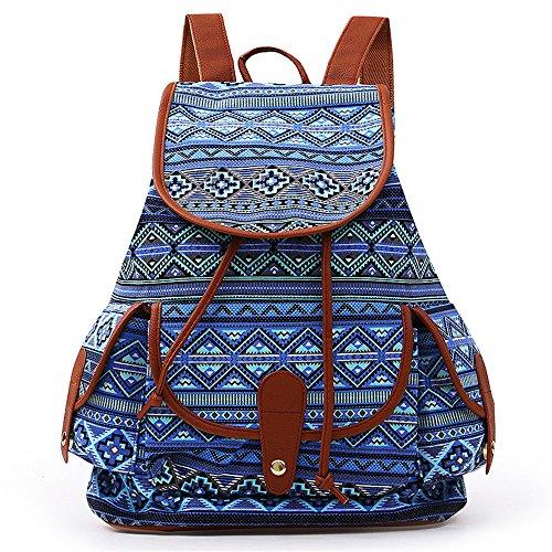 VESNIBA LLC Fashion Bags Canvas Backpack For Women Girls Boys Casual Book Bag Sports Day Pack from VESNIBA LLC