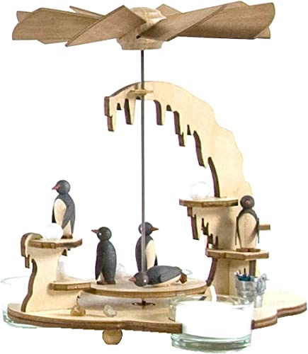 Alexander Taron Importer 085-576 Dregeno Pyramid – Assorted Penguins – 7 H x 7.5 W x 6.5 D, Brown