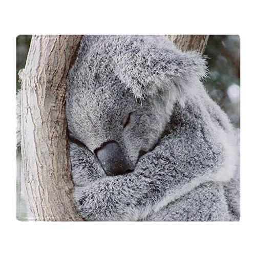 CafePress - Sleeping Koala Baby - Soft Fleece Throw Blanket, 50