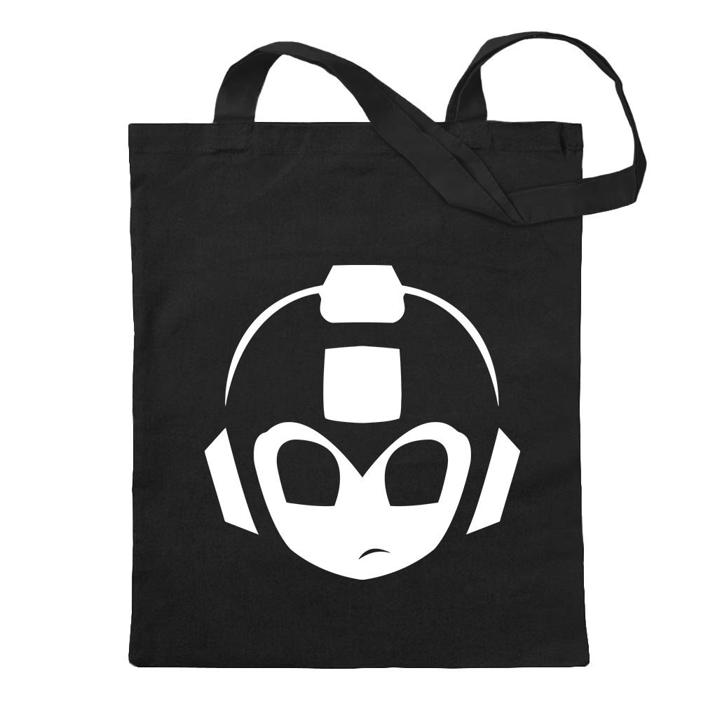 3ac0167d5 Amazon.com: Mega Man MegaMan Head Jute Cotton school fitness shopping bag  long handle: Clothing