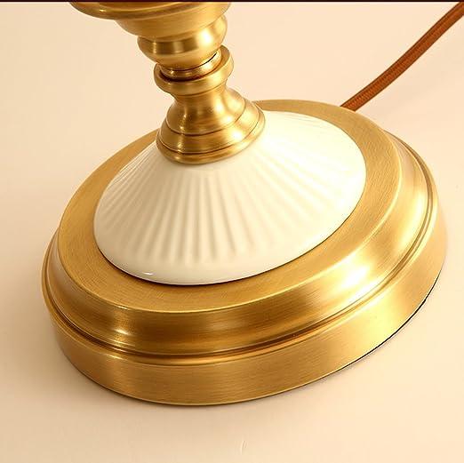 HZH Copper Art Lámpara de Escritorio Dormitorio Bedside Estudio ...