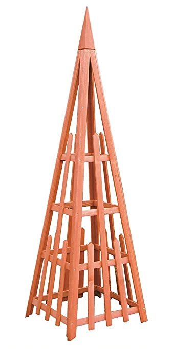 arboria garden trellis cedar wood 81 inch height pyramid shape