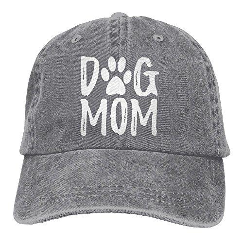 Unisex Dog Mom Vintage Jeans Adjustable Baseball Cap Cotton Denim Dad Hat