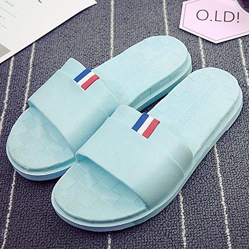 un El antideslizante verano zapatillas de Zapatillas zapatillas un Luz home verano femenino exterior con azul3 hembra de baño stay masculino par DogHaccd de Baño cool playa desgaste cuarto qx5TRY57